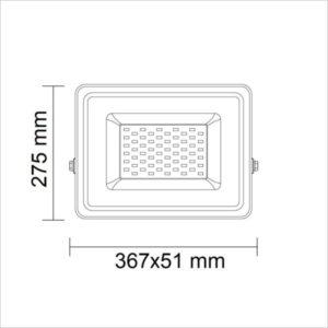 projecteur-led-150w-dimensions